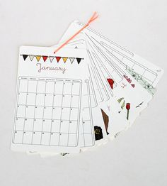 Illustrated 2014 Wall Calendar | Gifts Cards & Stationery | Olive and Ruby | Scoutmob Shoppe | Product Detail