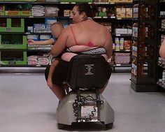 OMG She really needs that cart...