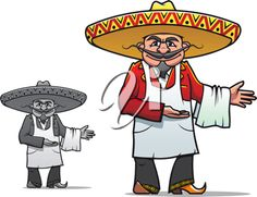 iCLIPART - Clip Art Illustration of a Mexican Chef in a Sombrero