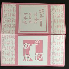 Handmade Never Ending Baby Girl Card - Pink by LoveDebbiesDesigns on Etsy