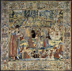 Reception for the Polish Envoys: one of a series of tapestries of 1582 depicting…