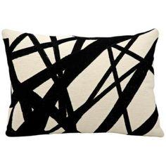 "Kathy Ireland Future 14"" x 20"" Ivory and Black Pillow - #5K502   LampsPlus.com"