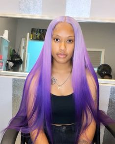 Colored Weave Hairstyles, Birthday Hairstyles, Creative Hair Color, Hair Color Purple, Weave Hair Color, Purple Weave, Purple Wig, Baddie Hairstyles, Black Girls Hairstyles