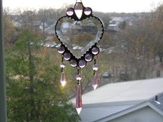 Stained Glass Suncatcher Beveled Heart by CreativeSpiritGlass