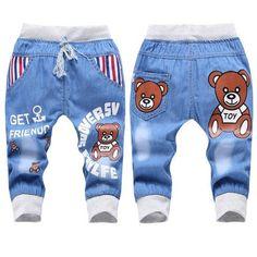 22.99 Denim Jeans Brown Bear Unisex Boys Girls - FREE SHIPPING (U.S. Only)  at 44b0033cc569