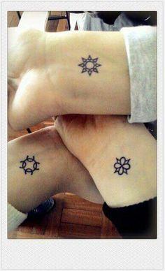 Cute, small, wrist tattoos for best friends Cousin Tattoos, Bestie Tattoo, Matching Friend Tattoos, Best Friend Tattoos, Verse Tattoos, Body Art Tattoos, Tatoos, Wrist Tattoos, Subtle Tattoos