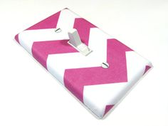 Pink and White Chevron Stripe Home Decor Light by ModernSwitch, $6.00