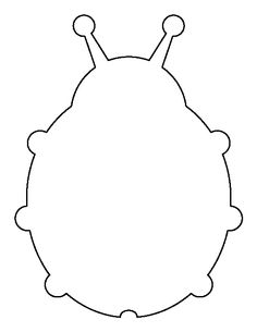 Ladybug pattern. Use the printable outline for crafts, creating stencils, scrapbooking, and more. Free PDF template to download and print at http://patternuniverse.com/download/ladybug-pattern/