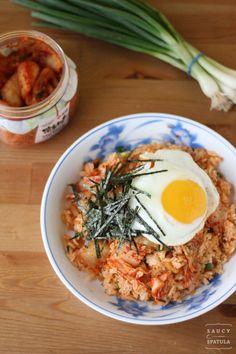 Recipe: Kimchi Fried Rice by @Saucy Spatula