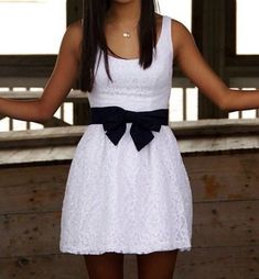 Cute lace bow dress