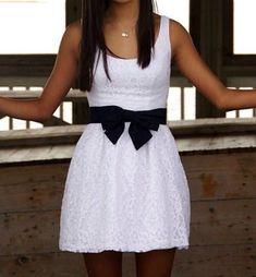 Cute lace bow dress