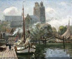 MUELHAUS Daan, 1907-1981 (Netherlands) Gezicht op Dordrecht