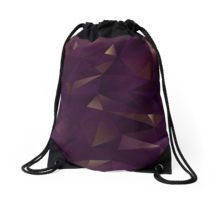 Drawstring Bag. Inspired by rought Amethyst crystals. Geometric Abstract pattern in Purple and gold shimmers. Find this pattern in different products, such as: apparel, fashion accessories, stationary, gift ideas, mugs, wall art, home decor and much more!
