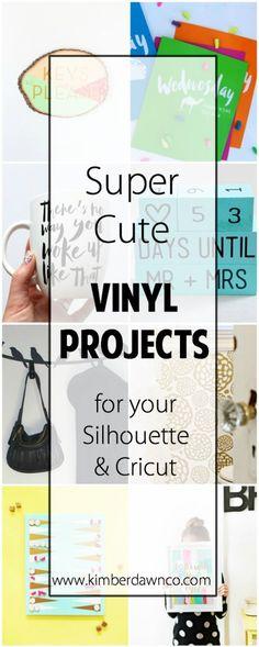 Super Cute Vinyl Projects - www.kimberdawnco.com