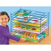 Lakeshore Tabletop Drying Rack at Lakeshore Learning Fun Arts And Crafts, Kids Crafts, Easy Crafts, Easy Diy, Lakeshore Learning, Art Easel, Wooden Easel, Kids Artwork, Teaching Art