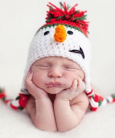 Look what I found on #zulily! Bits N Baubles BeBe White & Red Snowman Earflap Beanie by Bits N Baubles BeBe #zulilyfinds