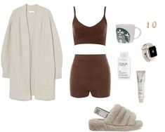 Cute Lazy Day Outfits, Bad Girl Outfits, Cute Casual Outfits, Stylish Outfits, Lounge Outfit, Kpop Fashion Outfits, Comfortable Outfits, Polyvore Outfits, Aesthetic Clothes