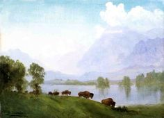 Buffalo Country by Albert Bierstadt 1875