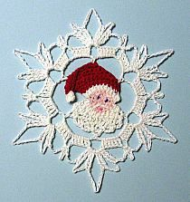 Crochet Patterns Christmas Thread Crochet Santa Snowflake from PetalsnMore on Etsymikołaj w gwiazdce na Stylowi.Ravelry: Shell simply by H.Shop for crochet on Etsy, the place to express your creativity through the buying and selling of handmade and Crochet Christmas Decorations, Christmas Crochet Patterns, Holiday Crochet, Crochet Snowflakes, Christmas Crafts, Christmas Snowflakes, Xmas, Thread Crochet, Crochet Motif