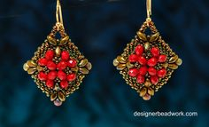 """Tutorial of beaded earrings """"Belleza"""" for advanced beaders. This is one of the most popular patterns I have created and I'm happy to share it with my viewers."""