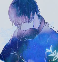 Find images and videos about boy, art and blue on We Heart It - the app to get lost in what you love. Sad Anime, Manga Anime, Anime Art, Male Yandere, Blue Anime, Anime Galaxy, Goth Art, Hot Anime Guys, Anime Boys