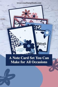 Need some note card sets? Perfect as a teacher gift, birthday gifts, or even to sell at craft fairs these ALL OCCASION CARDS can be made in minutes. Join the fun at www.lisasstampstudio.com #notecardsets #teachergifts #cardmakingideas #papercrafts #lisacurcio #lisasstampstudio #stampinupcards Craft Fair Ideas To Sell, Craft Show Ideas, Card Making Tutorials, Card Making Techniques, Step Cards, Easy Cards, Homemade Greeting Cards, One Sheet Wonder, Fabric Cards