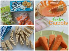 Easy Easter Carrot Rice Krispies Treats – 3 Ingredients. Easy Kids Food Craft, great Recipe for an Easter Party. Details on Frugal Coupon Living
