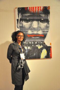 Valerie Oka and Painting - Photo by Evangeline Kim 10 Anniversary, World Music, New Moon, Pride, Punk, Celebrities, Painting, Celebs, Painting Art