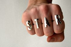 Light Blank Silver Letter Ring - Choose between all letters from A to Z