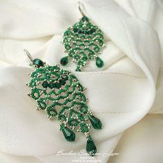 Tatting Earrings, Tatting Jewelry, Lace Jewelry, Tatting Lace, Bead Earrings, Jewelry Necklaces, Tatting Patterns, Crochet Patterns, New Shape