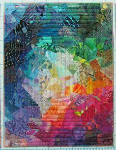 Mini Colorwash Quilt by Wanda S Hanson at Exuberant Color