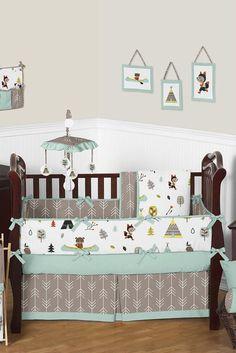 Outdoor Adventure Nature Baby Bedding 9 Piece Crib Set by Jojo Designs Baby Bedroom, Baby Boy Rooms, Baby Boy Nurseries, Baby Cribs, Bedroom Decor, Nursery Decor, Nursery Grey, Grey Crib, Bedding Decor