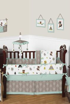 Outdoor Adventure Nature Baby Bedding 9 Piece Crib Set by Jojo Designs