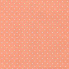 Woven oil cloth coral w white dots - Stoff & Stil