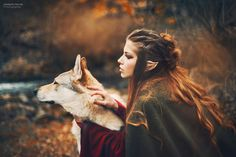 Elf woman with her wolf.. by Marketa Novak on 500px