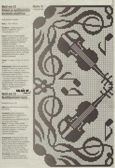 Balaio de crochê: Toalhas e almofadas com notas musicais