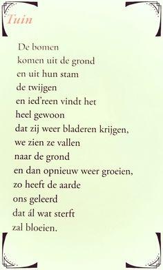 Gedicht 'Tuin' - Toon Hermans