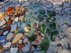 Atelier Tempel . found sand washed sea glass en tile fragments