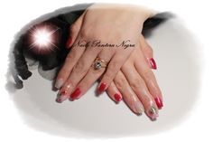 Unhas em Gel cor Rosa glitters com Nail art flores naturais & arco Iris!