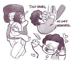 """""""Tiny hands, my only weakness"""" //steven universe Perla Steven Universe, Steven Universe Memes, Desenhos Cartoon Network, Steven Univese, Fanart, Universe Art, Rock, Just In Case, Nerdy"""