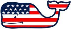 Vineyard Vines Flag Whale (alternate version)