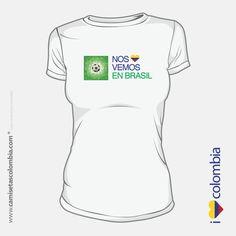 Camiseta de Colombia para mujer T Shirt, Tops, Women, Fashion, Printed Tees, Moda, Tee, Women's, Fasion