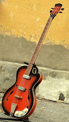 LVIV (Lvov) Extremely rare Ukrainian RSB Soviet semihollow bass guitar from USSR   eBay