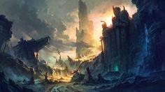 Artwork Castles Concept Art Digital Art Dragons Drawings Fan Ming Fantasy Art Mirrored Paintings The Lord Of The Rings Wallpaper