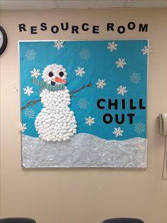 Winter bulletin board.