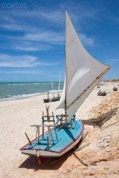 http://turksail.com.tr Traditional Sail Boat on Brazilian Beach