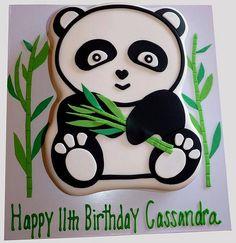 Cute Panda Birthday Cake Panda Birthday Cake