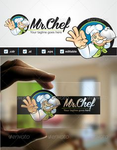 Mr. Chef Logo Design Template Vector #logotype Download it here: http://graphicriver.net/item/mr-chef-logo/3728113?s_rank=887?ref=nexion