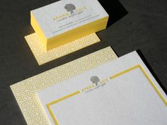 Aphro Chic Blotter Business Cards - I am seriously in love with Studio on Fire