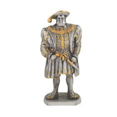 Pewter Henry VIII statue